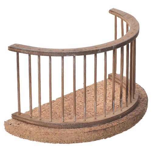 Balcon crèche napolitaine 13x8 cm 2
