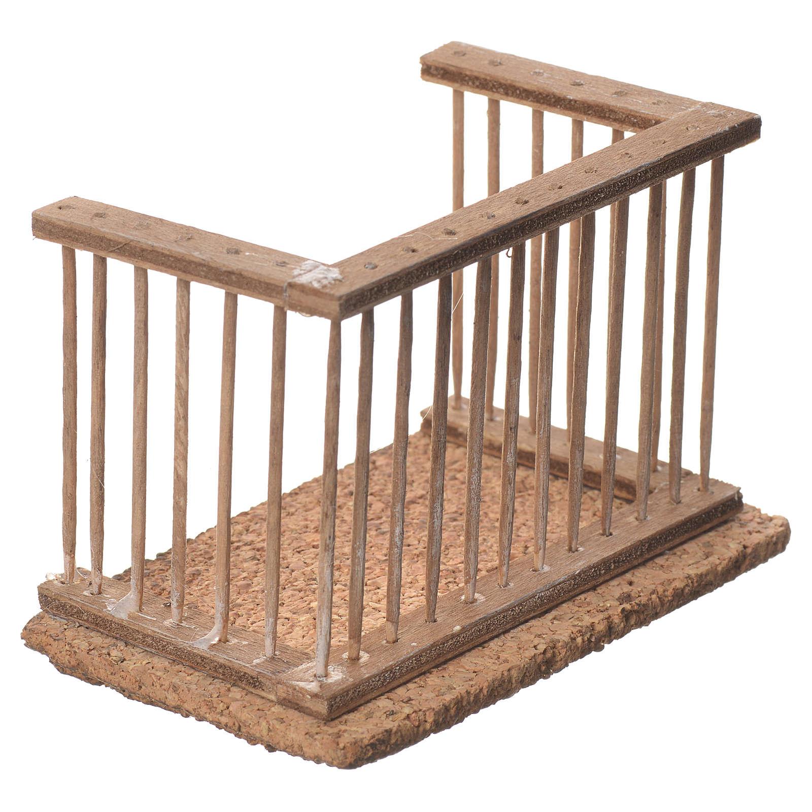 Balcone presepe napoletano 10x7x6 4