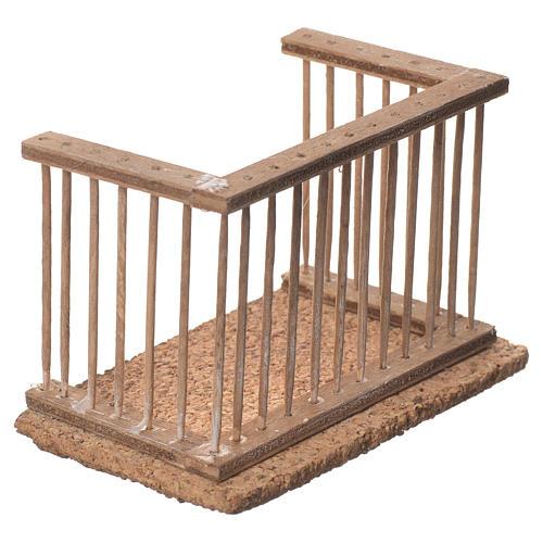 Balcone presepe napoletano 10x7x6 2
