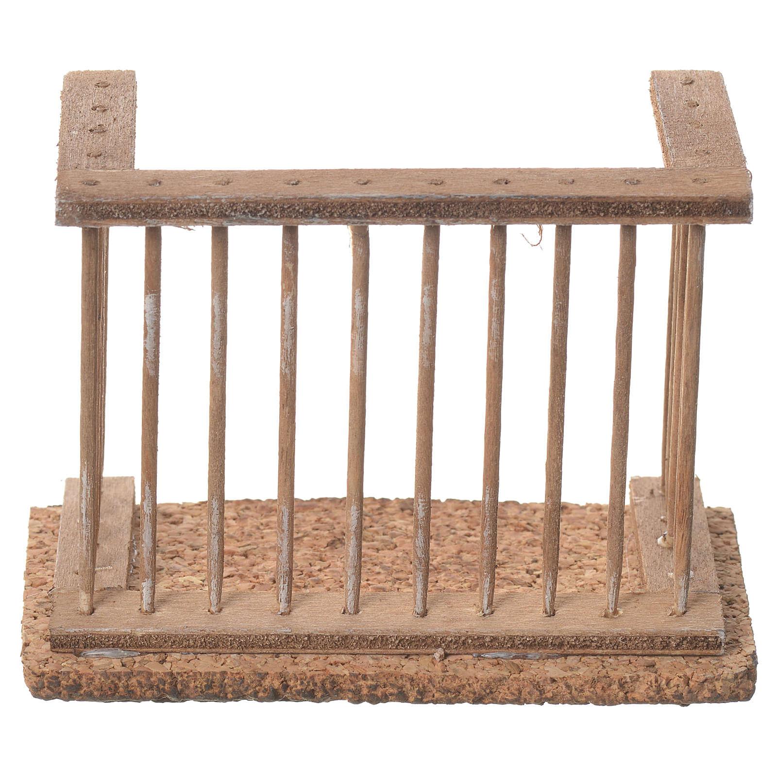 Balcone presepe napoletano 9x7x4 4