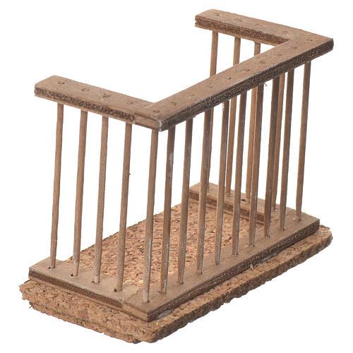 Balcone presepe napoletano 9x7x4 2