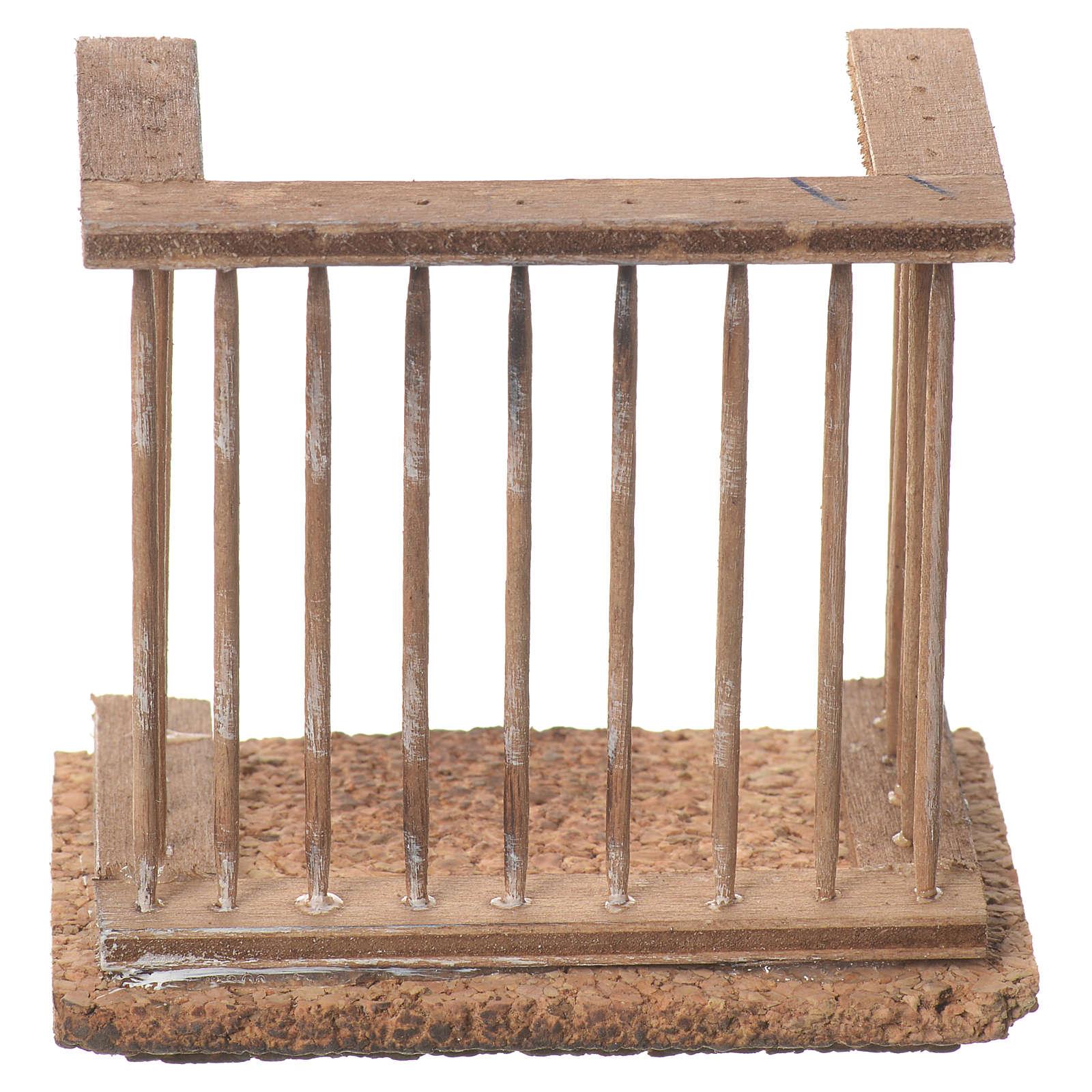 Balcone presepe napoletano 8x7x4 4