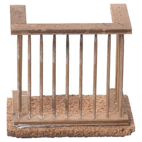 Balcone presepe napoletano 8x7x4 1