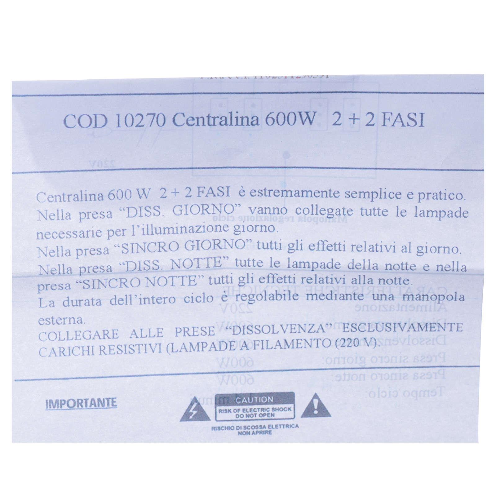 Centralina presepe 600W 2+2 Fasi 4
