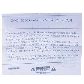 Centralina presepe 600W 2+2 Fasi s4