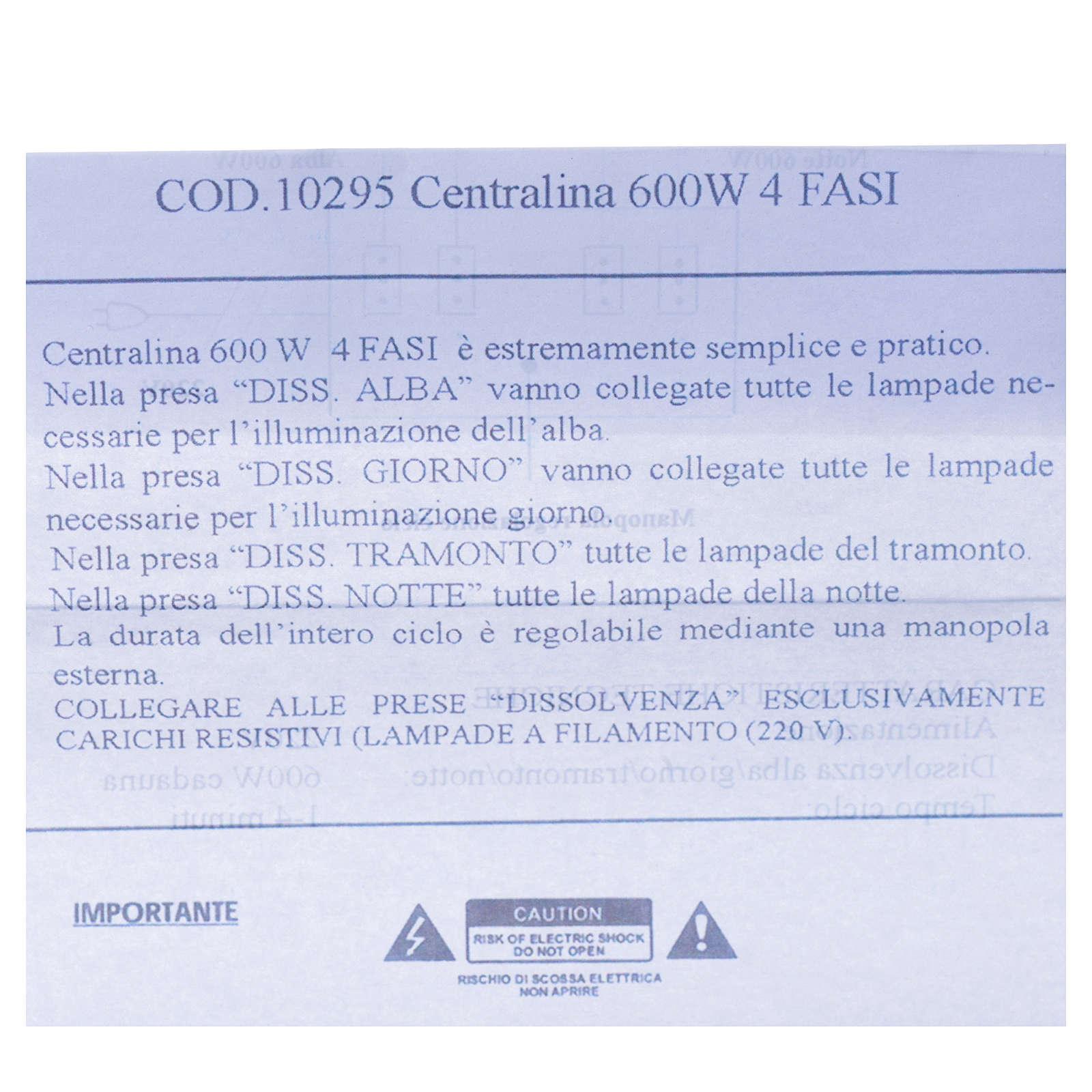 Centralina presepe 600W 4 Fasi 4