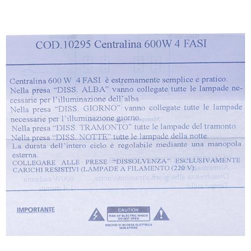 Centralina presepe 600W 4 Fasi 5
