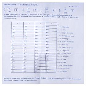 Lettore mp3 presepe con scheda fissa con 16 suoni selezionabili s5