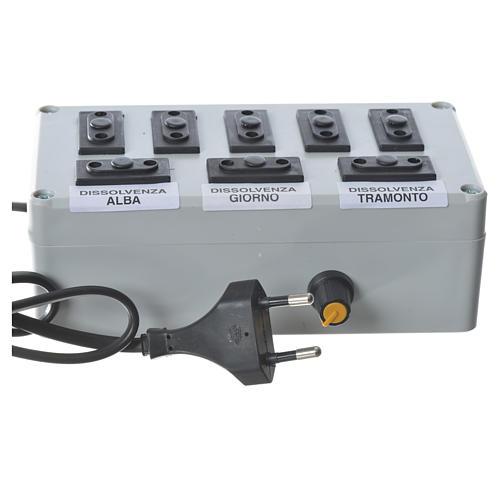 Nativity scene electric box 1000W 4+4 phases 4