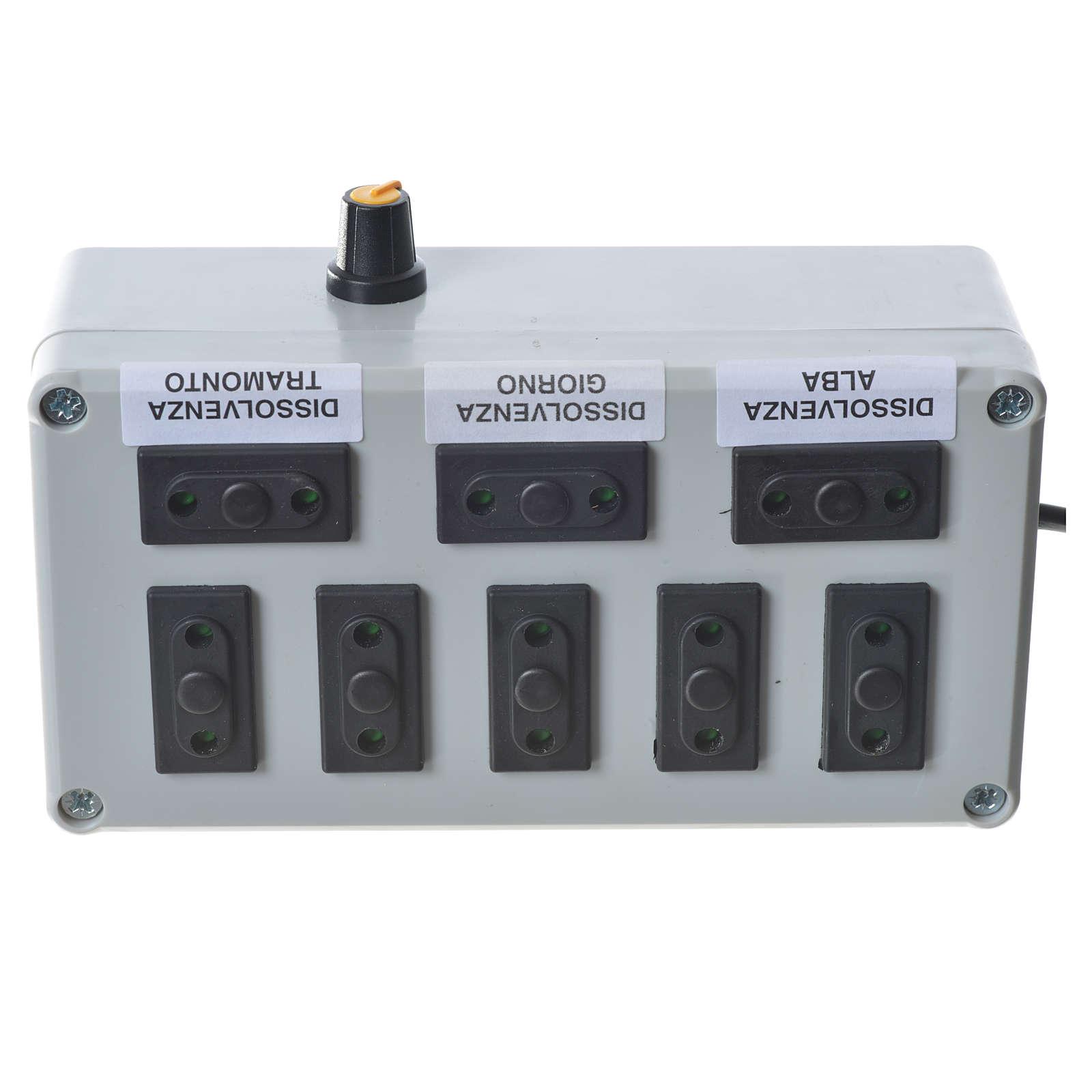 Programmateur pour éclairage crèche 1000W 4+4 phases 4