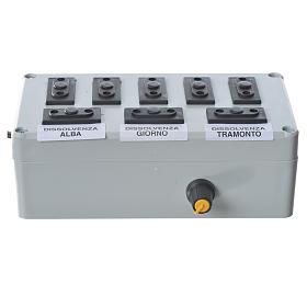 Programmateur pour éclairage crèche 1000W 4+4 phases s2