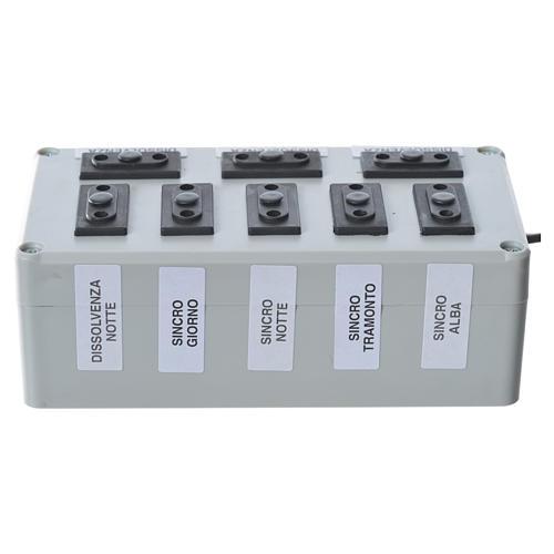 Programmateur pour éclairage crèche 1000W 4+4 phases 1