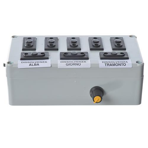Programmateur pour éclairage crèche 1000W 4+4 phases 2