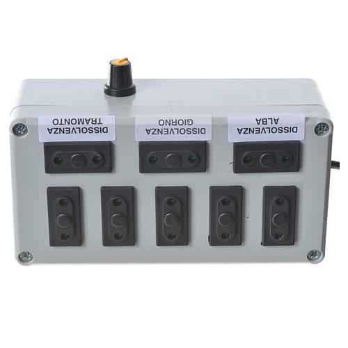Programmateur pour éclairage crèche 1000W 4+4 phases 3