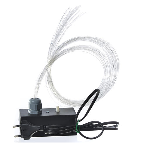 Optical fibre 1 m for nativity scene, led lightning with fade and flickering effects 2