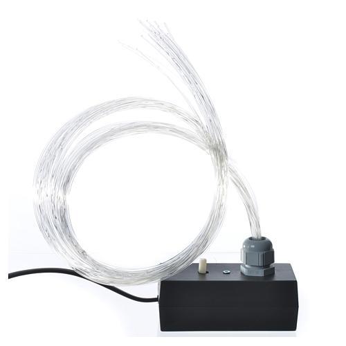 Fibra óptica 1 m belén iluminador led fundido parpadeo 1