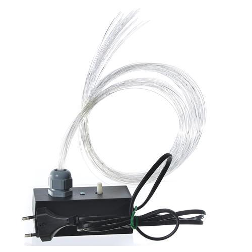 Fibra óptica 1 m belén iluminador led fundido parpadeo 2