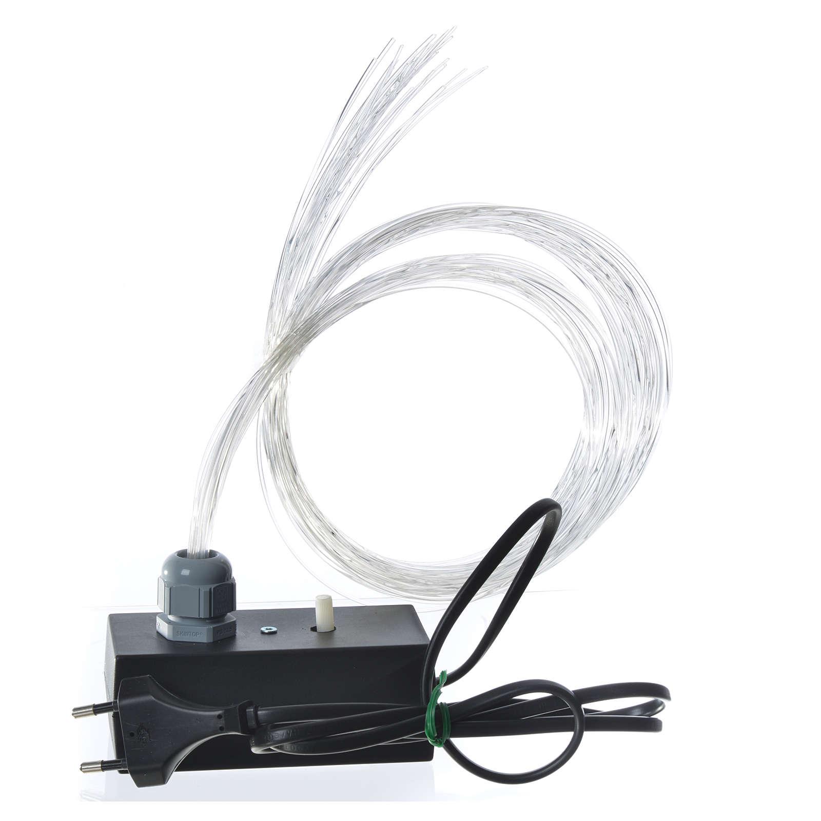 Fibra ottica 1m presepe illuminatore led dissolvenza tremolio 4