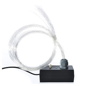 1 m optical fiber for nativity scene, led lightning with fade and flickering effects s1