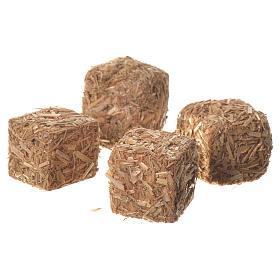 Balles de foin crèche 3 pcs 2x2x2,5 cm s2