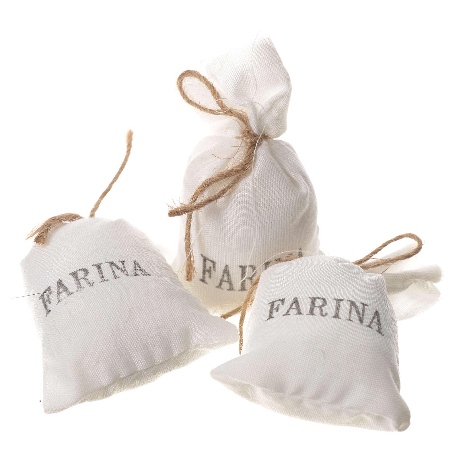 Bag of flour for nativities, 3pcs 7x3.5cm 4
