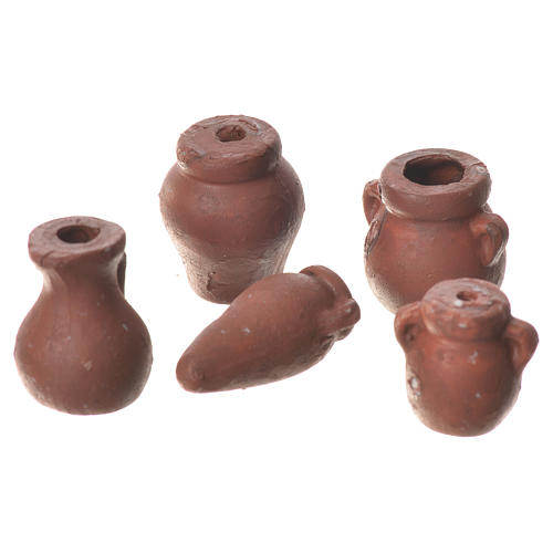 Anfore assortite presepe 5 pz terracotta 2