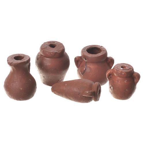 Ânforas várias presépio 5 peças terracota 1