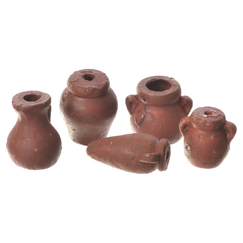 Assorted Amphorae in terracotta, 5 pieces for nativities 1