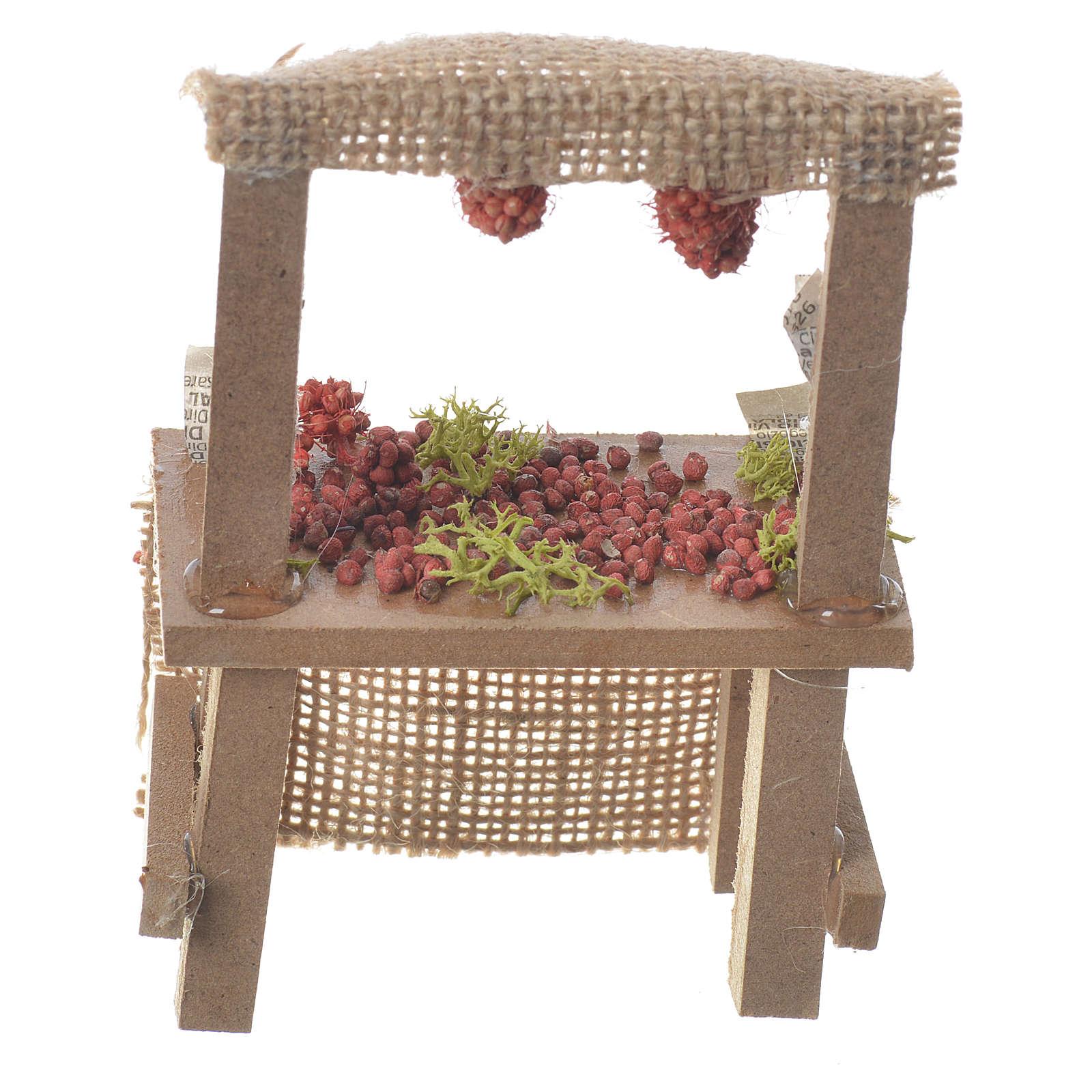 Banco frutta rossa presepe 10,5x7x4,5 cm 4