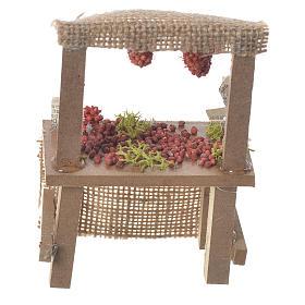 Banco frutta rossa presepe 10,5x7x4,5 cm s2