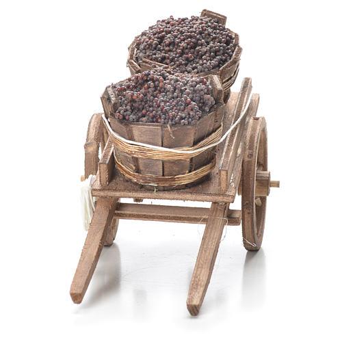 Carreta con tina belén napolitano 10x18x8 cm 4