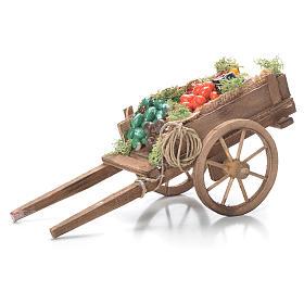 Presépio Napolitano: Carrinho com fruta presépio napolitano 10x18x8 cm