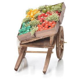 Carreta con cajas de fruta belén napolitano 10x18x8 cm s4