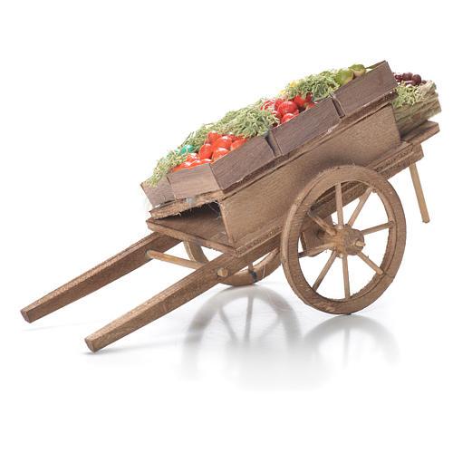 Carreta con cajas de fruta belén napolitano 10x18x8 cm 1