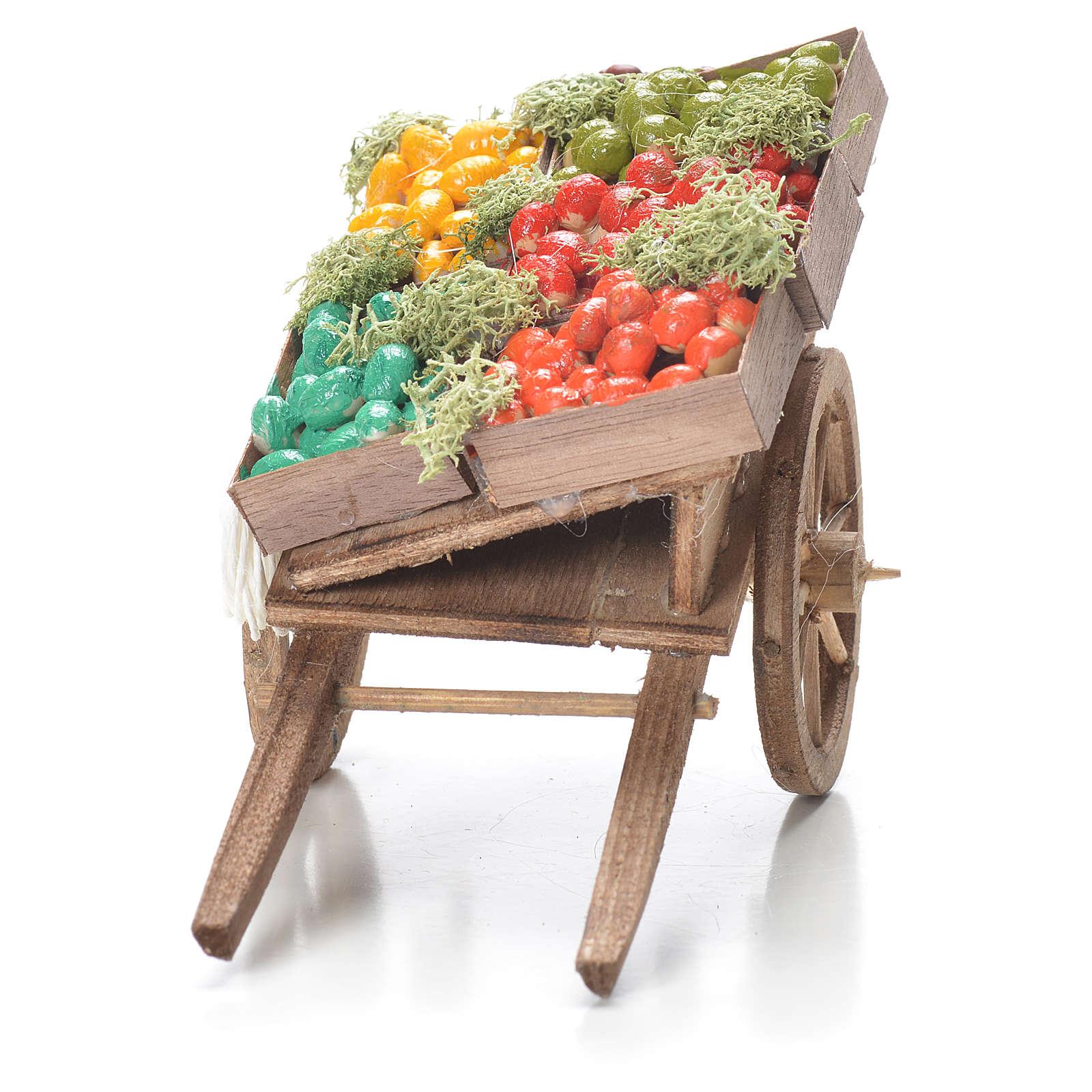 Carro cassetta frutta presepe napoletano 10x18x8 cm 4