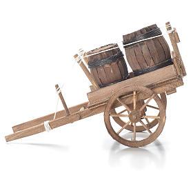 Carro con barriles belén Nápoles 10x18x8 cm s2