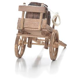 Carro con barriles belén Nápoles 10x18x8 cm s3