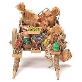 Cart with fruit, Neapolitan Nativity 24cm s4