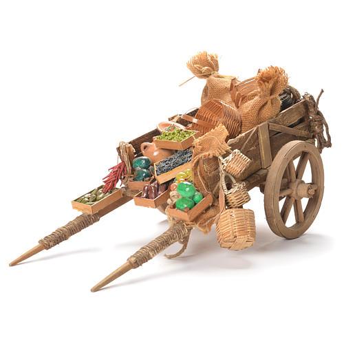 Cart with fruit, Neapolitan Nativity 24cm 1