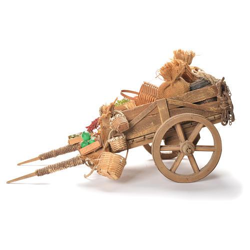 Cart with fruit, Neapolitan Nativity 24cm 2