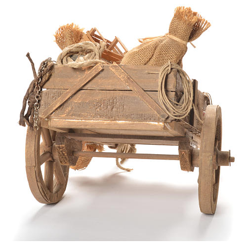 Cart with fruit, Neapolitan Nativity 24cm 3