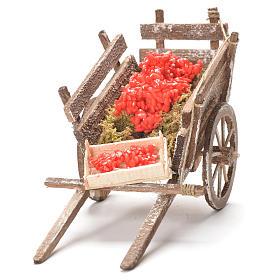 Cart with tomatoes, Neapolitan Nativity 12x20x8cm s4