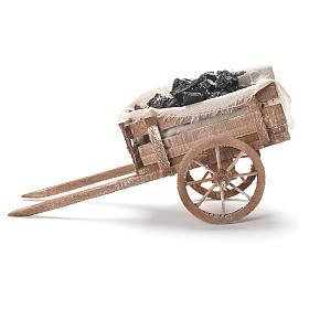 Carreta de carvão presépio napolitano 12x20x8 cm s2