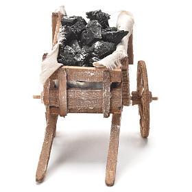 Carreta de carvão presépio napolitano 12x20x8 cm s4
