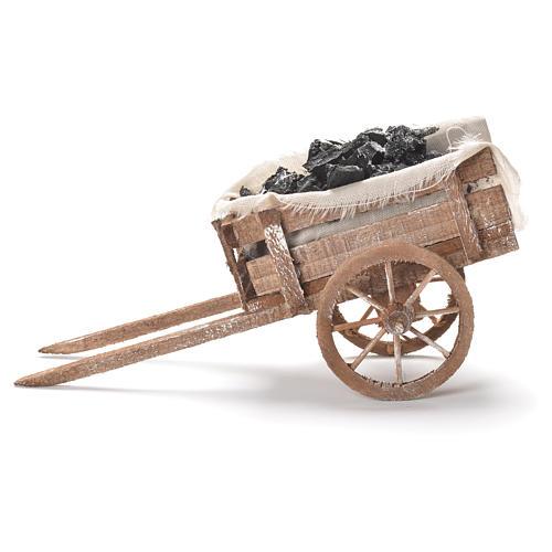 Carreta de carvão presépio napolitano 12x20x8 cm 2