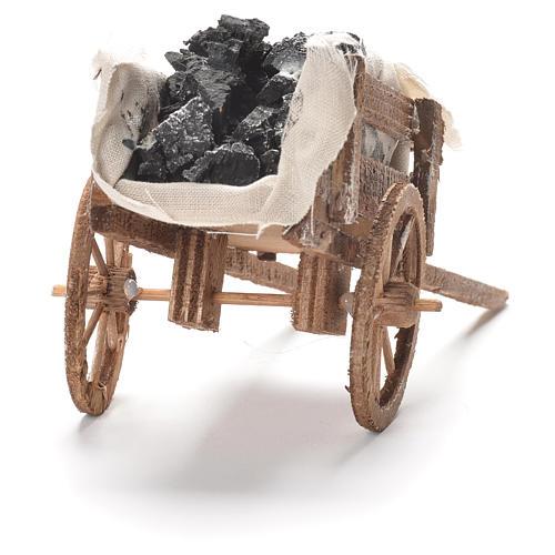 Carreta de carvão presépio napolitano 12x20x8 cm 3