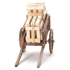 Wózek ze skrzynkami szopka neapolitańska 12x20x8 cm s4