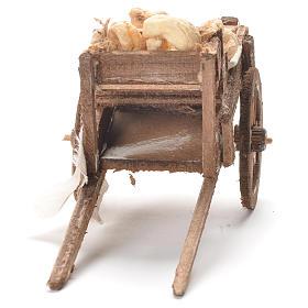 Carretto con pane presepe napoletano 12x20x8 cm s4