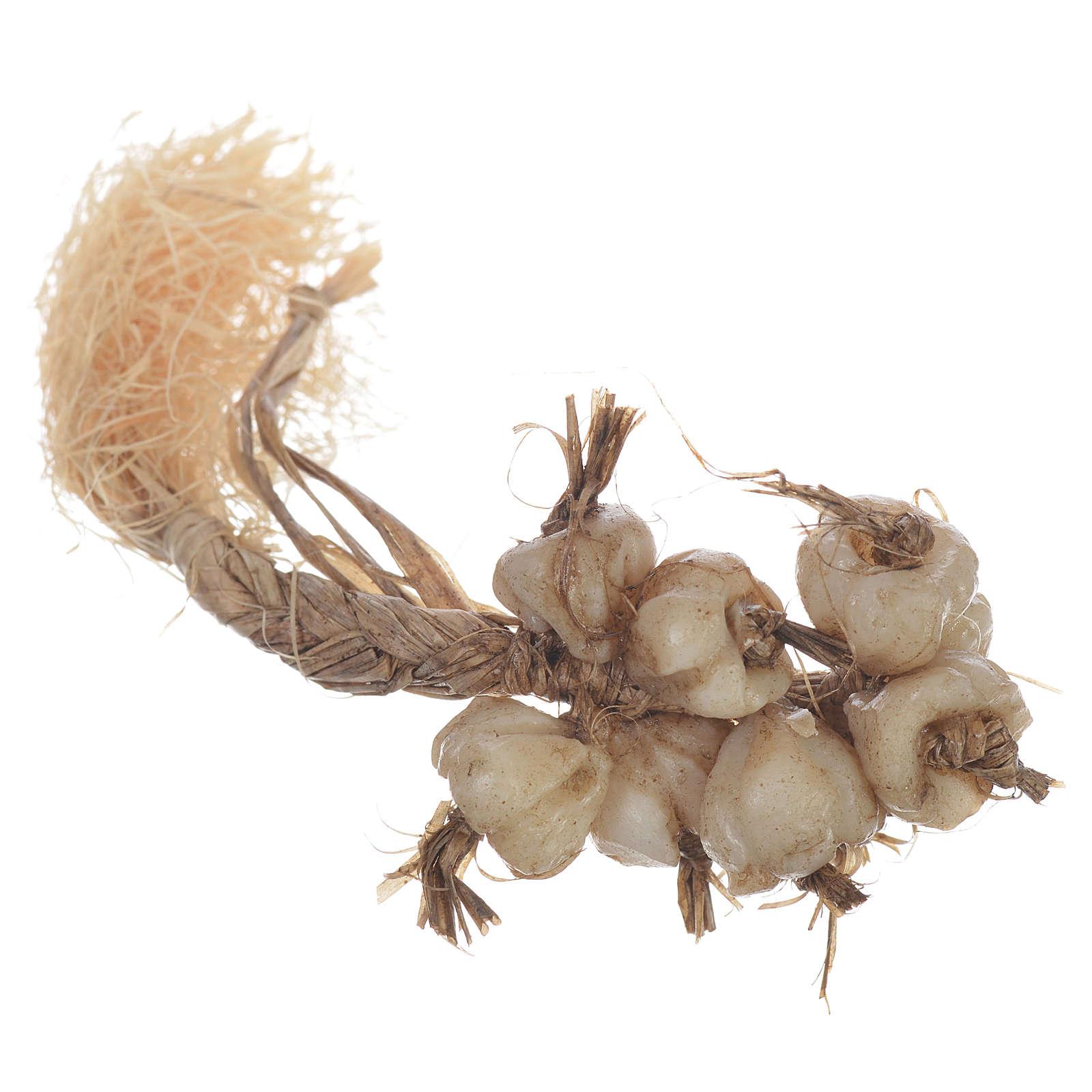 Tresse d'ail en cire crèche 20-24 cm 4