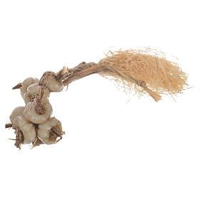 Cibo in miniatura presepe: Treccia aglio in cera per figure presepe 20-24 cm